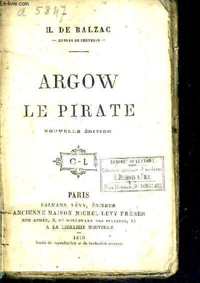 ARGOW LE PIRATE / NOUVELLE EDITION.