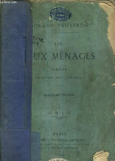 LES FAUX MENAGES COMEDIE EN QUATRE ACTES EN VERS / 3E EDITION.