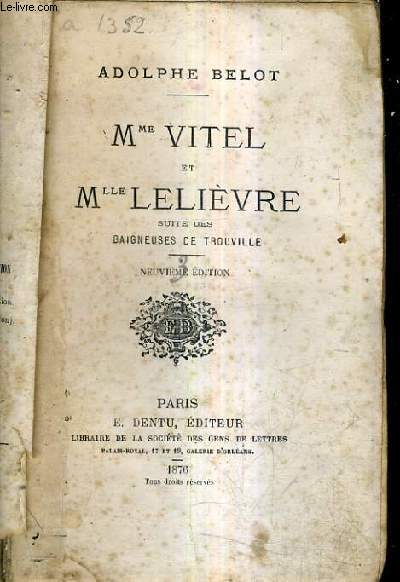 MME VITEL ET MLLE LELIEVRE SUITE DES BAIGNEUSES DE TROUVILLE / 9E EDITION.
