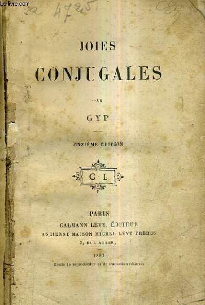 JOIES CONJUGALES / 11E EDITION.