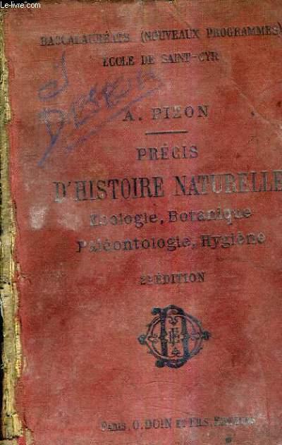 PRECIS D'HISTOIRE NATURELLE ZOOLOGIE BOTANIQUE PALEONTOLOGIE HYGIENE A L'USAGE DES CANDIDATS AUX DIFFERENTS BACCALAUREATS ET CONFORME AUX PROGRAMMES DU 31 MAI 1902 / 2E EDITION REVUE ET CORRIGEE.