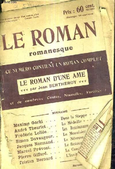 LE ROMAN ROMANESQUE / LE ROMAN D'UNE AME MARS 1905 N°23.