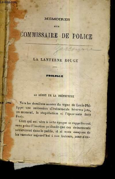 MEMOIRES D'UN COMMISSAIRE DE POLICE.