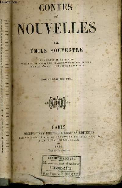 CONTES ET NOUVELLES LE CHIRURGIEN DE MARINE - LE MARI DE MADAME DE SOLANGES - GONZALES COQUES - LES EAUX D'ABANO - LE JEUNE HOMME PALE / NOUVELLE EDITION.