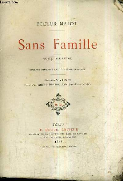 SANS FAMILLE / TOME DEUXIEME / NOUVELLE EDITION.