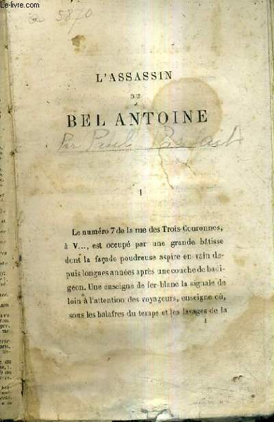L'ASSASSIN DU BEL ANTOINE.