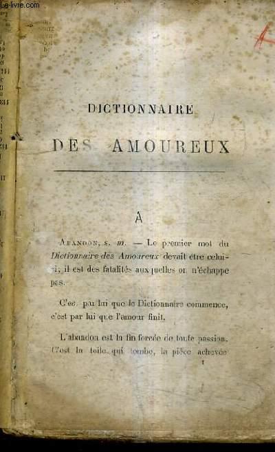 DICTIONNAIRE DES AMOUREUX.