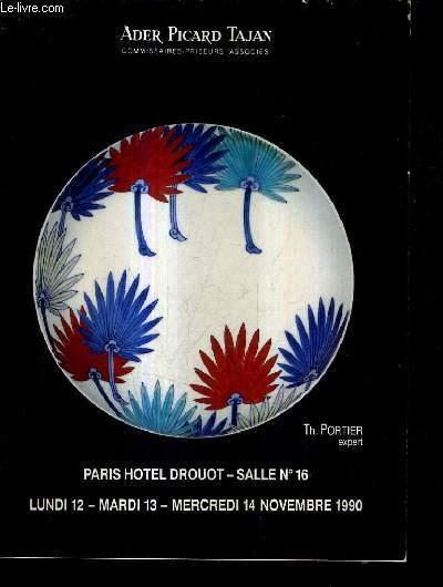 CATALOGUE DE VENTE AUX ENCHERES ART D'EXTREME ORIENT - PARIS HOTEL DROUOT SALLE 16 LUNDI 12 MARDI 13 MERCREDI 14 NOVEMBRE 1990.