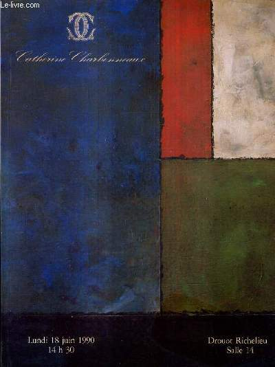 CATALOGUE DE VENTES AUX ENCHERES - TABLEAUX MODERNES ART CONTEMPORAIN COLLECTIONS SUPPORT SURFACE 1960-1970 ART MINIMAL ET CONCEPTUEL - 18 JUIN 1990.