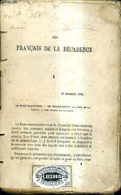 LES FRANCAIS DE LA DECADENCE.