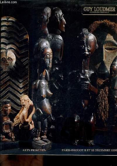 CATALOGUE DE VENTES AUX ENCHERES - ARTS PRIMITIFS AFRIQUE AMERIQUE INDONESIE OCEANIE - PARIS HOTEL DROUOT SALLE 4 - LUNDI 10 DECEMBRE 1990 A 14H15.