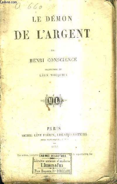 LE DEMON DE L'ARGENT / TRADUCTION DE LEON WOCQUIER.