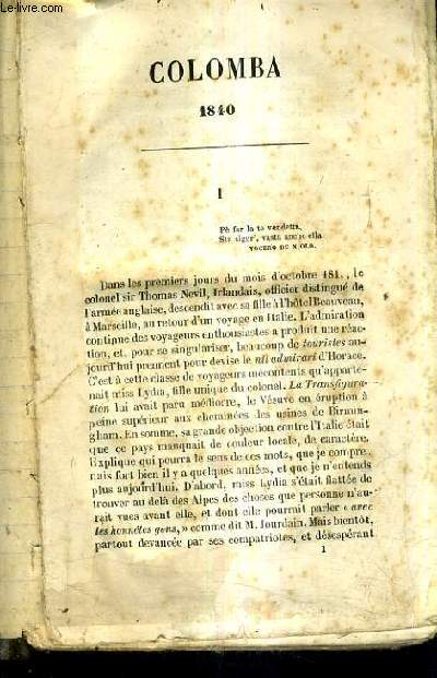 COLOMBA 1840 - INCOMPLET.