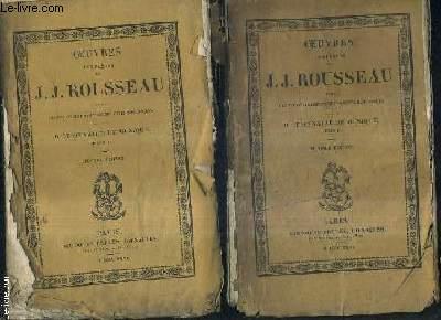 OEUVRES COMPLETES DE J.J. ROUSSEAU AVEC DES ECLAIRCISSEMENTS ET DES NOTES HISTORIQUES - DICTIONNAIRE DE MUSIQUE TOME 1 + 2 / 2E EDITION - OEUVRES COMPLETES DE J.J. ROUSSEAU TOME XII + XIII.