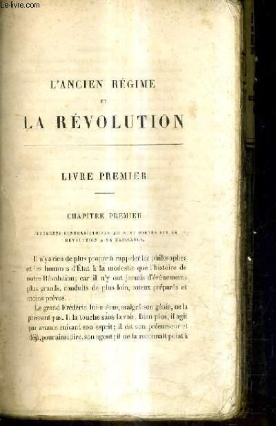 L'ANCIEN REGIME ET LA REVOLUTION.