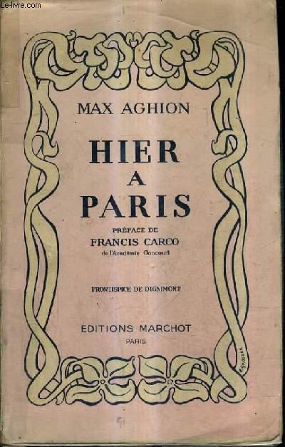 HIER A PARIS.