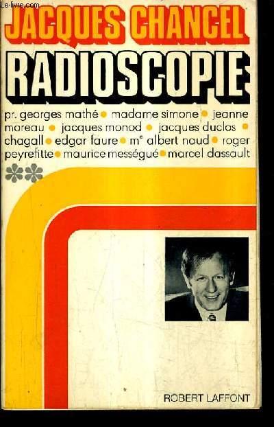 RADIOSCOPIE - TOME 2.