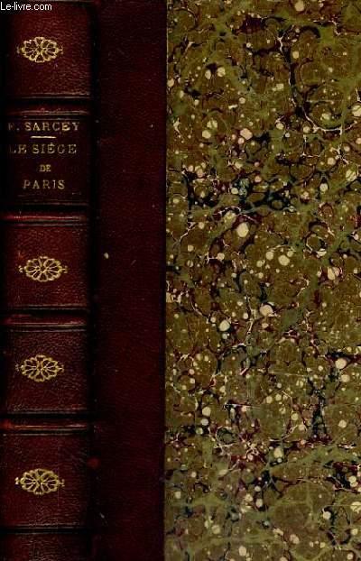 LE SIEGE DE PARIS - IMPRESSIONS ET SOUVENIRS - 18E EDITION.