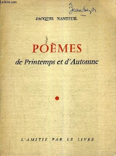 POEMES DE PRINTEMPS ET D'AUTOMNE.