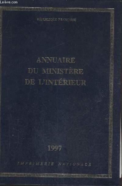 ANNUAIRE DU MINISTERE DE L'INTERIEUR.