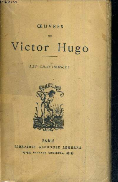OEUVRES DE VICTOR HUGO - LES CHATIMENTS.