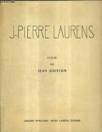 JEAN PIERRE LAURENS 1875-1932.