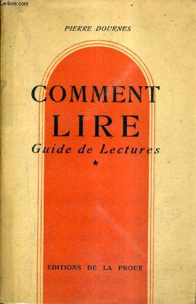 COMMENT LIRE GUIDE LECTURES - TOME 1.