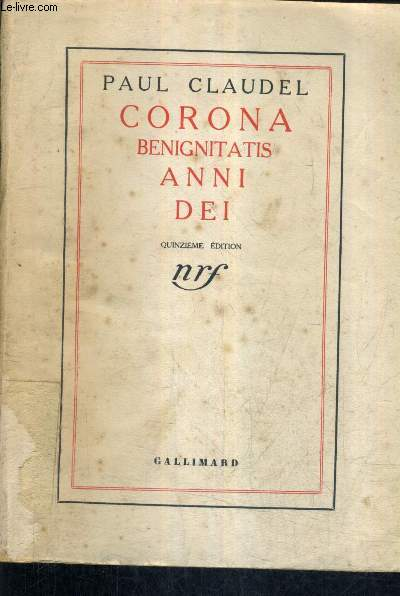 CORONA BENIGNITATIS ANNI DEI -  22E EDITION.