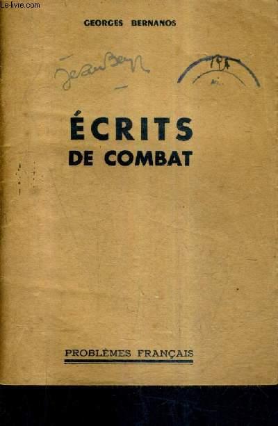 ECRITS DE COMBAT.
