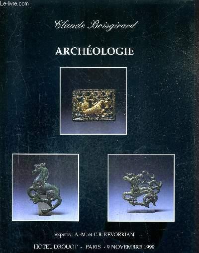 CATALOGUE DE VENTES AUX ENCHERES - ARCHEOLOGIE ART DES STEPPES BASSIN MEDITERRANEEN ET MOYEN ORIENT - PARIS HOTEL DROUOT SALLE 9 - 9 NOVEMBRE 1999 .