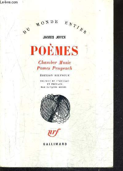POEMES CHAMBER MUSIC POMES PENYEACH - EDITION BILINGUE - COLLECTION DU MONDE ENTIER.