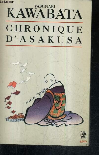 CHRONIQUE D'ASAKUSA LA BANDE DES CEINTURES ROUGES / COLLECTION LE LIVRE DE POCHE BIBLIO N°3172 .