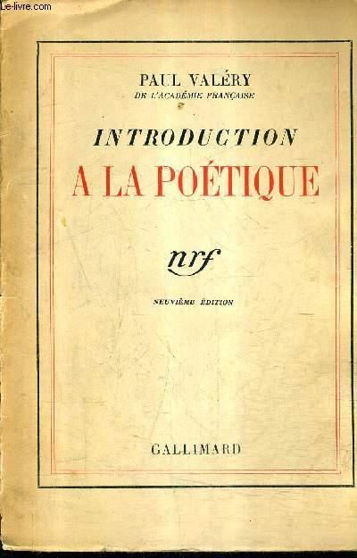 INTRODUCTION A LA POETIQUE / 9E EDITION.
