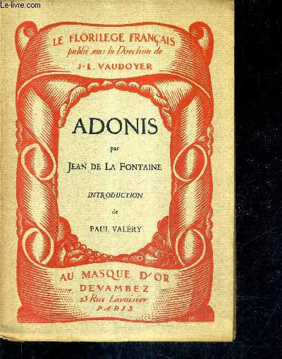 JADONIS / COLLECTION LE FLORILEGE FRANCAIS.