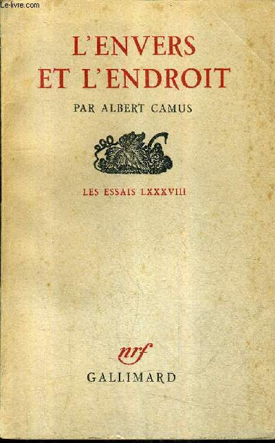 L'ENVERS ET L'ENDROIT - LES ESSAIS LXXXVIII / 23E EDITION.