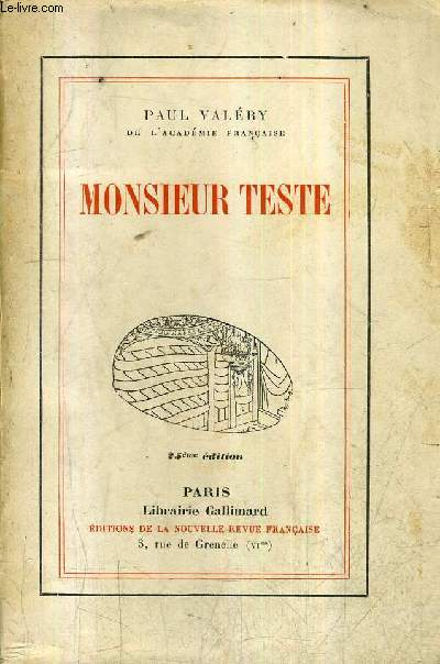 MONSIEUR TESTE / 25E EDITION.