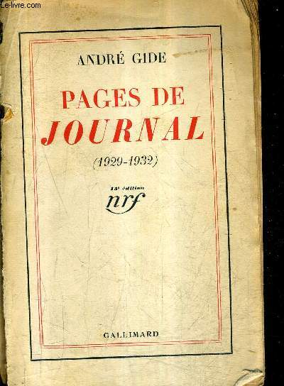 PAGES DE JOURNAL 1929-1932 / 15E EDITION.