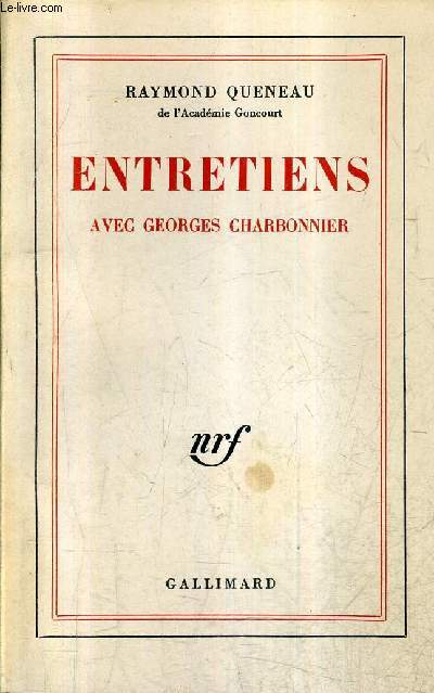 ENTRETIENS AVEC GEORGES CHARBONNIER.