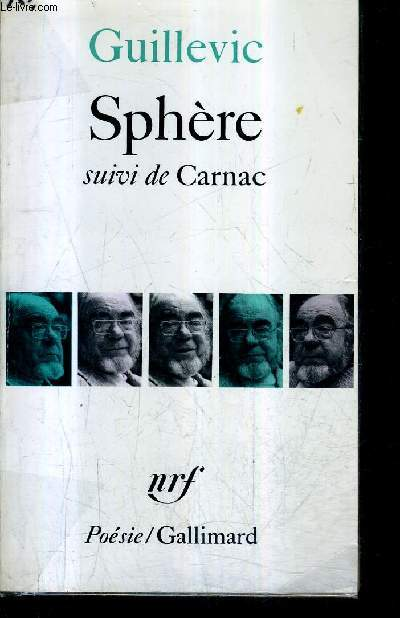 SPHERE SUIVI DE CARNAC - COLLECTION POESIE .