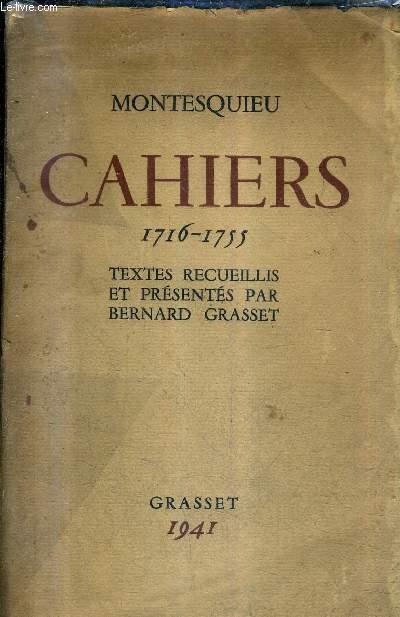 CAHIERS 1716-1755 .