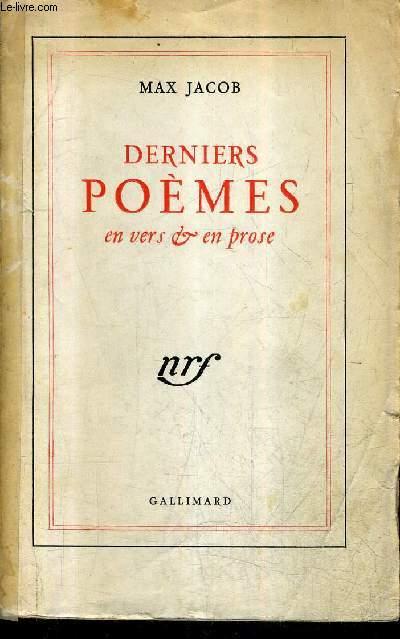 DERNIERS POEMES EN VERS ET EN PROSE / 8E EDITION.