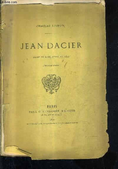 JEAN D'ACIER DRAME EN CINQ ACTES EN VERS / 2E EDITION.