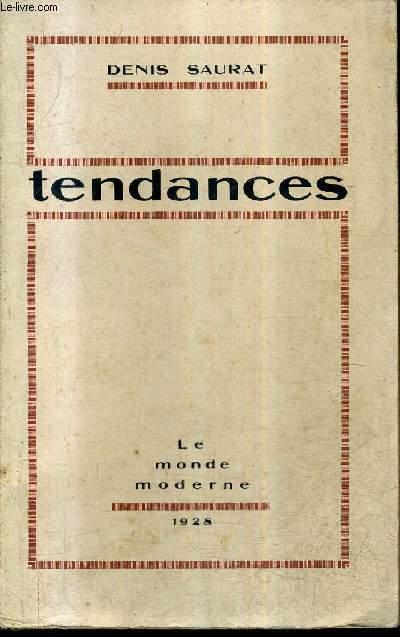 TENDANCES + ENVOI DE L'AUTEUR.