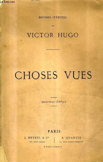 CHOSES VUES - 4E EDITION.