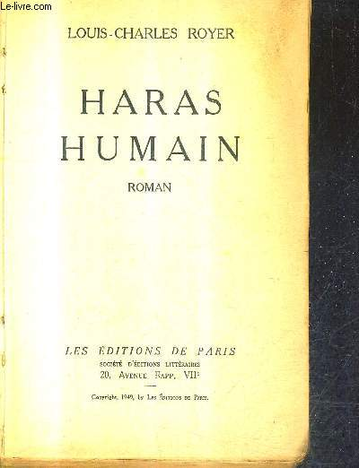 HARAS HUMAIN - ROMAIN.