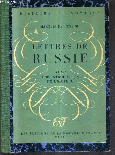 LETTRES DE RUSSIE.