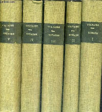 OEUVRES COMPLETES DE VOLTAIRE AVEC PREFACES AVERTISSEMENS NOTES REMARQUES HISTORIQUES / 5 TOMES / TOMES 1 A 5.