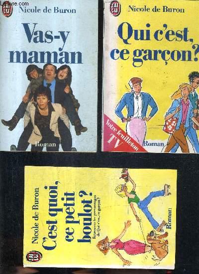 COFFRET CONTENANT 3 ROMANS SUR 4 - MANQUE UN ROMAN - VAS Y MAMAN - QUI C'EST CE GARCON ? - C'EST QUOI CE PETIT BOULOT - MANQUE LE ROMAN LES SAINTES CHERIES.