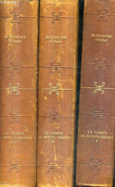 LE COMTE DE MONTE CRISTO / EN 3 TOMES / TOMES 1 + 2 + 3.