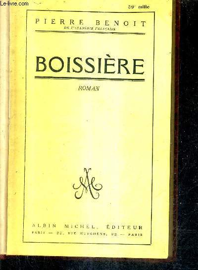 BOISSIERE - ROMAN.